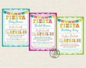PRINTABLE - Fiesta Party Invitation - 5x7 DIGITAL FILE