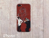 Pulp Fiction iPhone Case, iphone cover, iPhone 6, iPhone 4 case, iPhone 4s case, iPhone 5 case, hard case, Paper Quilling, paper art print