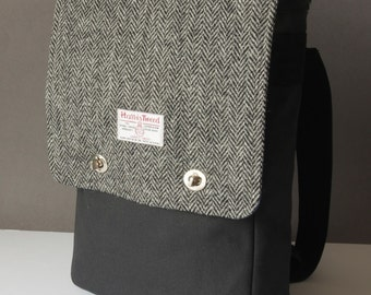 Rucksack Messenger Backpack with Harris Tweed option
