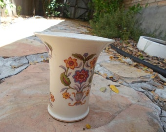 Vintage East German Porcelain Flower Design Vase