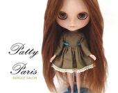 Make to order/Alpaca/Doll hair/ Suri Alpaca hair/ rerooting scalp/ for Blythe Doll Nature  Autumn brown length 13-14  inches