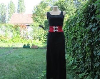 Pencil Dress Vintage / Black / Long Dress  / Size EUR38 X 10