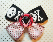 Skull and Crossbones X-bow with Black Glitter Spider