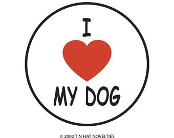 I Heart My Dog Sticker