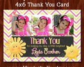 NEW - Sunshine Chalkboard Thank You Card Printable Digital File