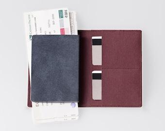 Travel Wallet / Minimalist Washable Paper Passport Sleeve in Uluru Red / Vegan Paper Passport Sleeve