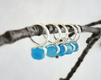 Sea Glass - Snag Free Knitting Stitch Markers (Small) - Fit up to size 8 US (5.0 mm)