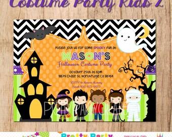 COSTUME PARTY KIDS 2 halloween invitation - You Print