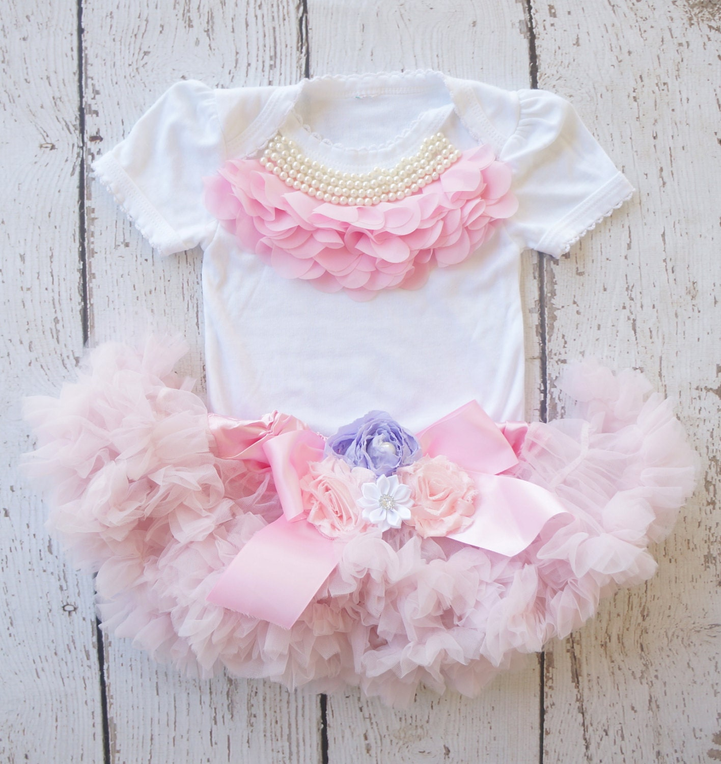 Shabby chic birthday outfit girls 1st birthday by poshpeanutkids - Shabby chic outfit ideas ...