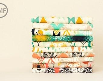 Fat Quarter Bundle August, 10 Pieces, Sarah Watts, Cotton+Steel, RJR Fabrics, 100% Cotton Fabric