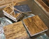 2 Piece Set of Wood Coasters
