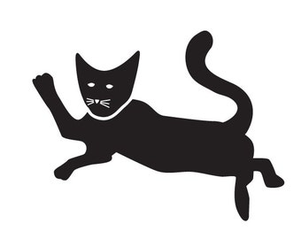 Cat Wall Stencil for Painting Kids or Baby Room Mural   (SKU182-istencil)