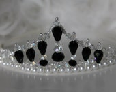 Black and White Crtstal and Pearl Tiara