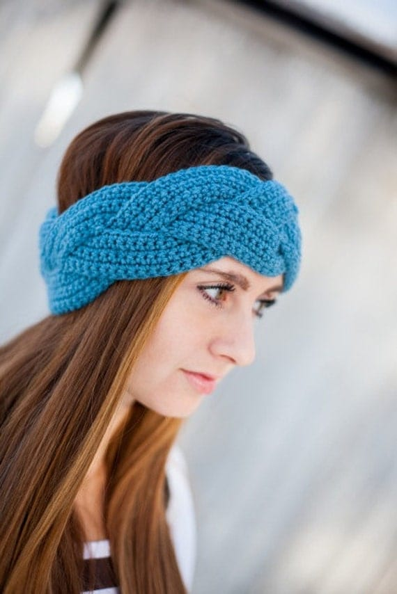Instant Download - CROCHET PATTERN PDF - Natalie Braided Crochet Earwarmer - Permission To Sell Finished Items