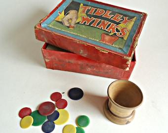 Vintage Tidley Winks 1920's Game