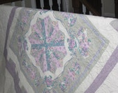 Pretty in Purple Classic Handmade Twin Quilt