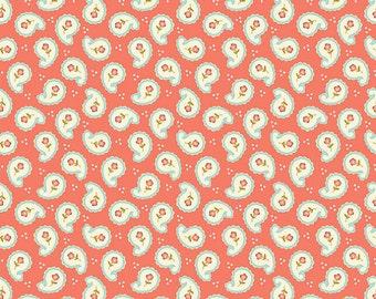 Calliope Paisley Coral - 1 yard