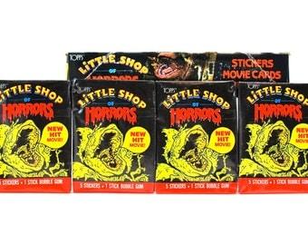 4 Little Shop of Horrors Sticker Packs from Topps 1986