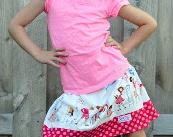 Michael Miller Make Believe Skirt   ( 2T, 3T, 4T, 5, 6, 7)