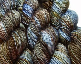 sw merino wool nylon sock yarn SLUMBER hand dyed fingering weight