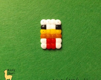Chicken hama bead pixelated accessory - MINECRAFT