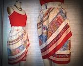 Red Striped Egyptian Skirt (S)