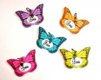 Butterfly Dog I.D. Tag / Pet Tag