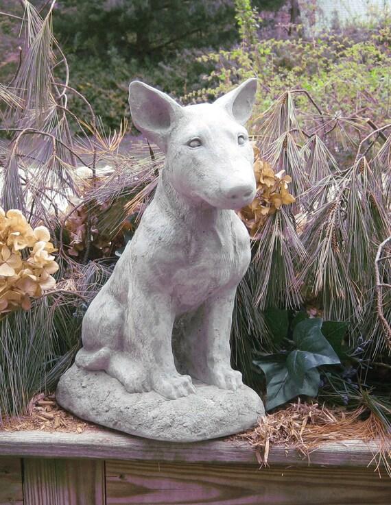 Large Bull Terrier Dog Statue