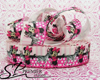 "7/8""  Zebra Grosgrain Ribbon"