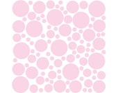 100 Wall Safe Vinyl Polka Dots Circles Carnation Pink Removable Temporary Decal Stickers Adhesive Nursery Crib Kids Kid Childs Bedroom Room