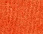 Soft and Durable Chenille Fabric for Upholstery- Drapery and Bedding - Resembles Crushed Velvet - Color:  Tangerine - 1 yard
