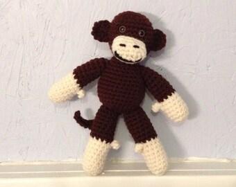 Monkey - Stuffed Animal - Monkey Amigurumi - crocheted monkey