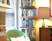 shelving from reclaimed old growth wood and recycled content steel - bookcase - shelves, unit - modern industrial