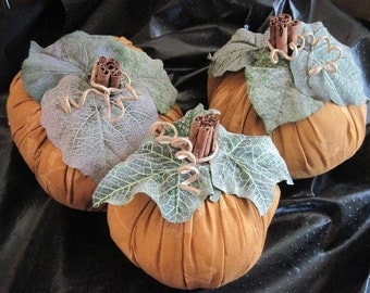 Soft Sculpture Pumpkins For Decor  Thanksgiving