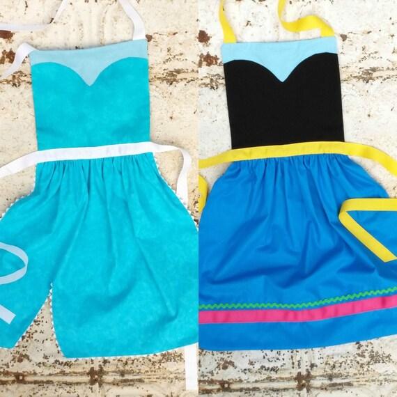Princess anna and elsa sewing pattern costume apron set disney dress