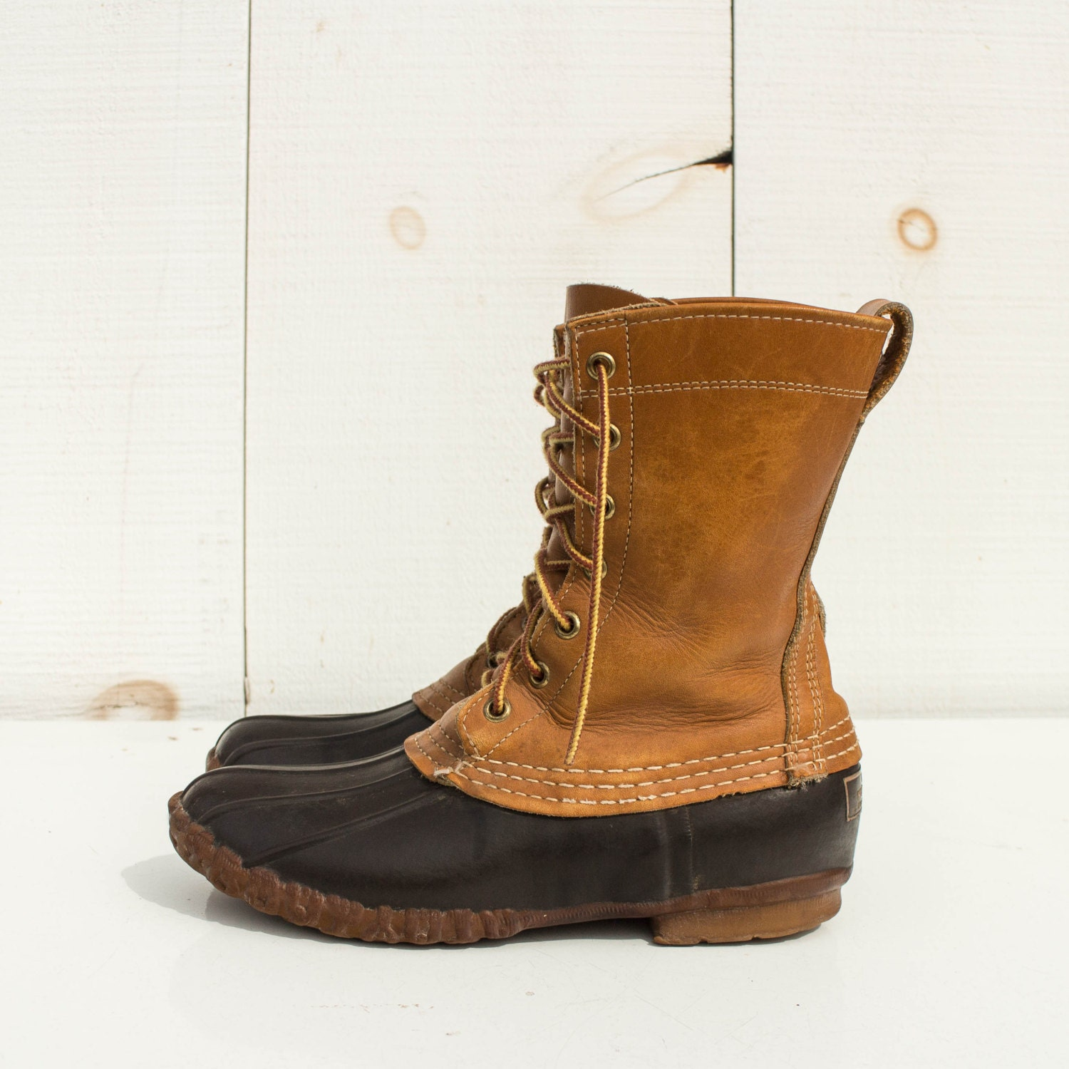 Women's Size 7 Vintage LL Bean Duck Boots Maine Hunting
