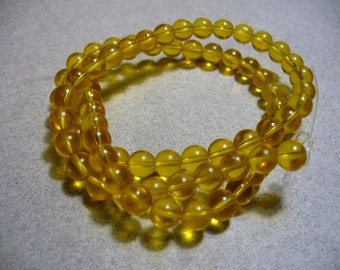 Glass Gold Beads Round 6MM