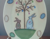 EPATTERN, Easter Egg Tree , painting pattern, paint you own, Easter bunny, Easter eggs, digital download