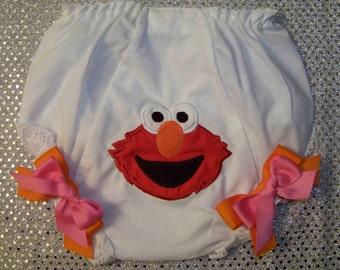ELMO Double Seat Diaper Cover / 123 Sesame Street / Big Bird / Birthday / Infant / Baby / Toddler / Girl / Custom Boutique Clothing