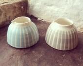 Stripey Porcelain Little cream Jug