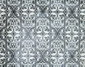 Retro Wallpaper by the Yard 70s Vintage Wallpaper - 1970s Black and White Damask