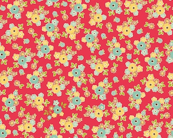 Sidewalks by October Afternoon for Riley Blake Designs - Small Floral in Red - 1/2 Yard