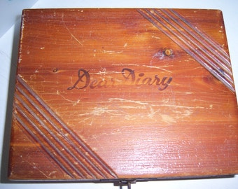 Vintage Wooden Diary Box