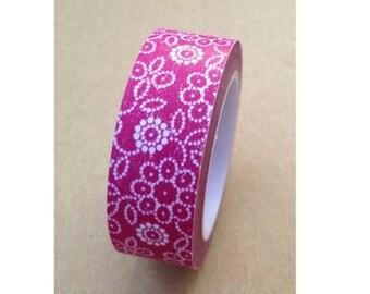 Flower Pattern Washi Tape (10M)