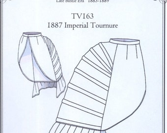 TV163 - Truly Victorian #163, 1887 Imperial Tournure (Lobster Tail Bustle) Sewing Pattern