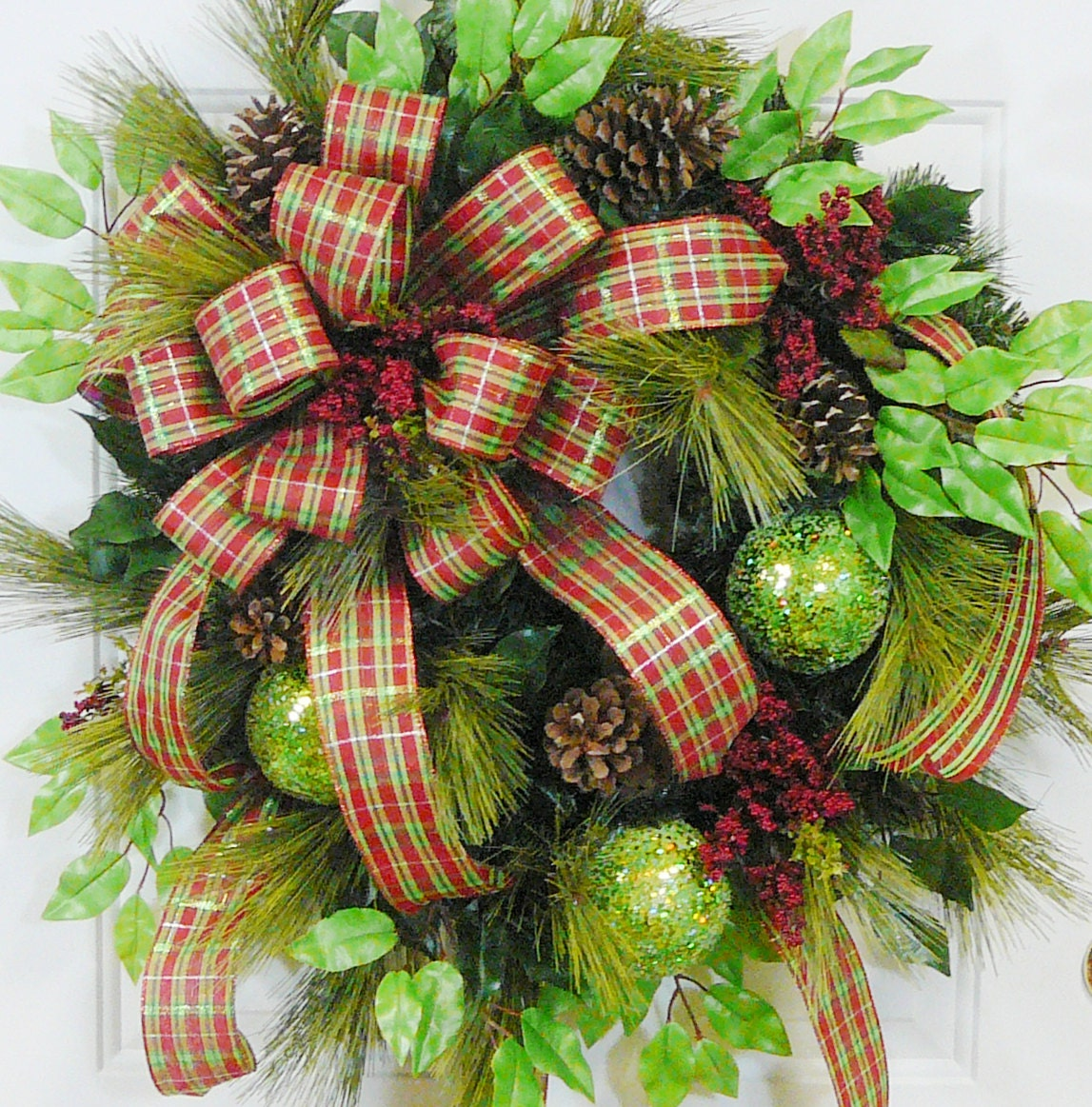 Xl christmas express door wreath outdoor holiday by for Exterior christmas wreaths