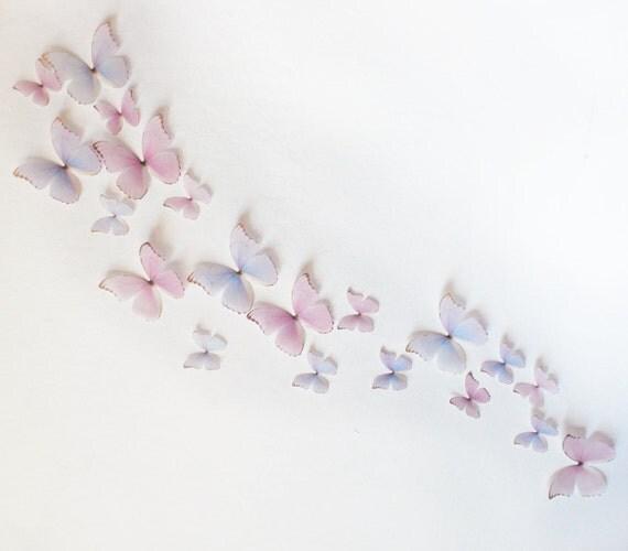 3d wand schmetterlinge light pink und lila prinzessin. Black Bedroom Furniture Sets. Home Design Ideas