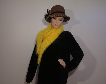 "Here Comes the Sun Yellow Scarf, 66"" by 4"", and 54"" by 4"""