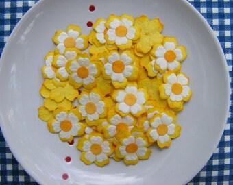 48  PCS. Flower Die Cut / 2 Layers   Orange  Mulberry Paper  Die Cut