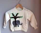 Child's Knit Elephant Sweater 12-18months